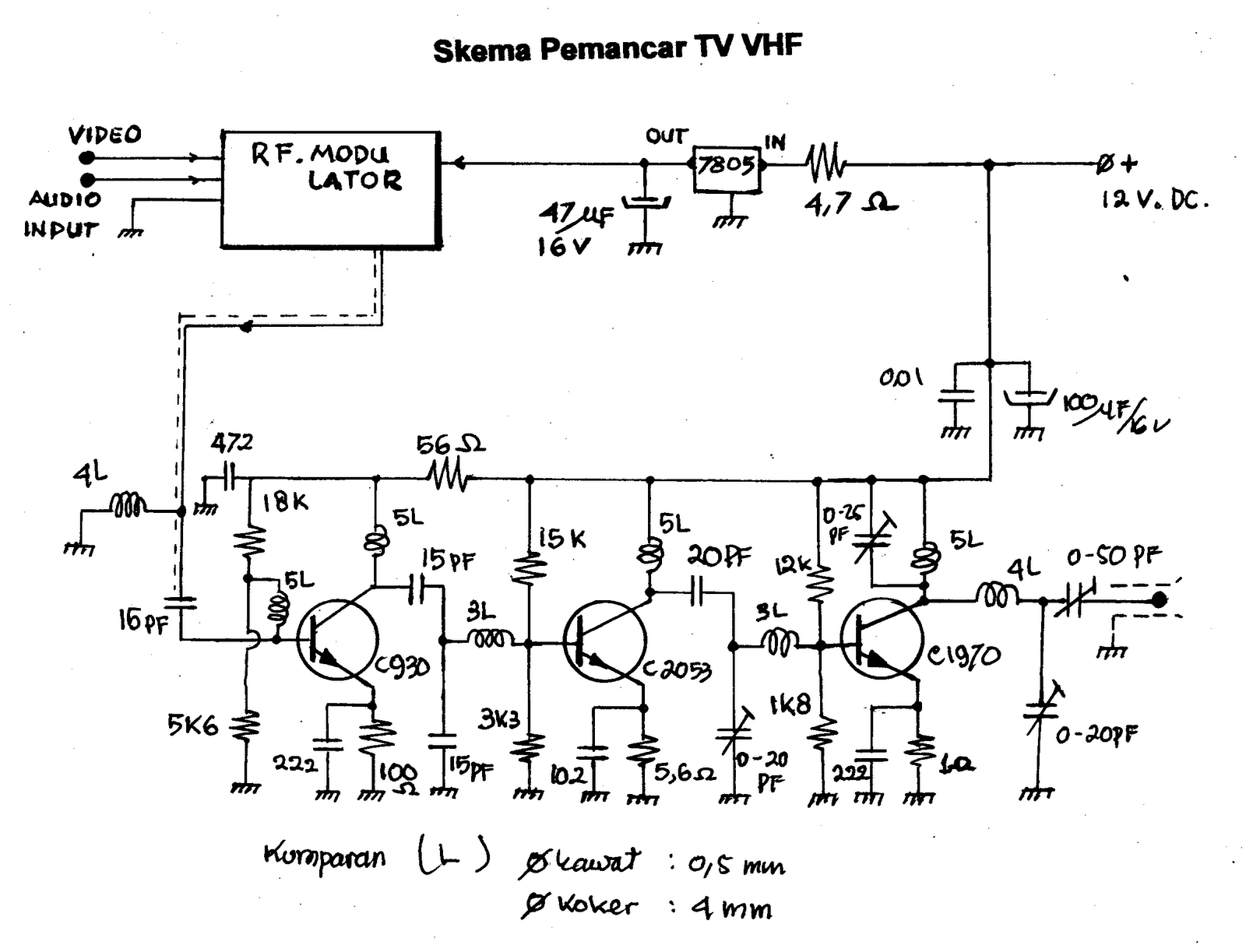 100 km fm transmitter circuit diagram pdf
