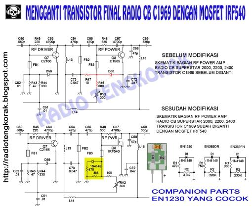 Ganti C1969 dengan IRF540_cp
