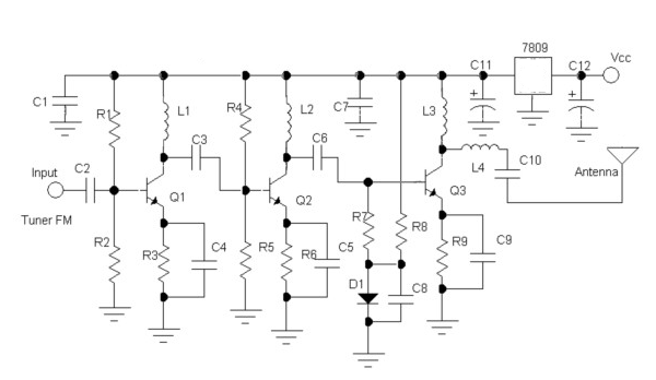 skema elektronika radio komunikasi