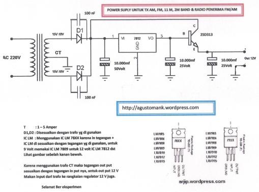 POWER SUPLY UNTUK PEMANCAR AM-FM-11M-2M DAN PENERIMA FM DAN AM