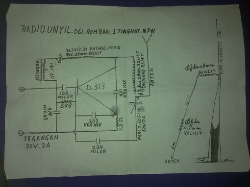 TX AM 80 M BAND SW 1 TR D313